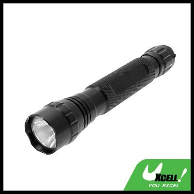 Micro 9V Powerful Aluminum Xenon Bulb Torch for Camping Hiking - Black long
