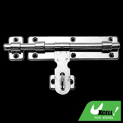 Silvery Stainless Steel Door Barrel Bolt with Padlock Clasp