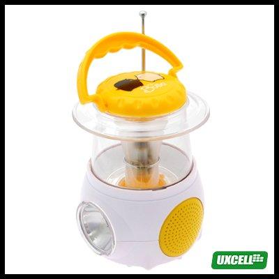 Mini Camping Lamp with Digital FM Radio (XH-838LST) - Orange