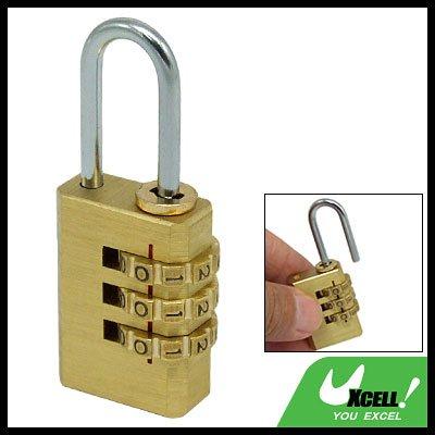 Backpack 3-D Brass Resettable Combination Padlock