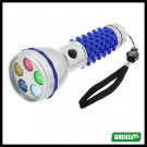 5 LED Bright Color Flashlight Torch for Camping Exploration (sk-205) - Blue