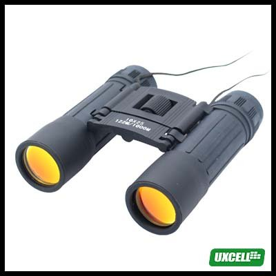 Binoculars 10x25 Telescope for Outdoors Hiking Camping Venture - Black
