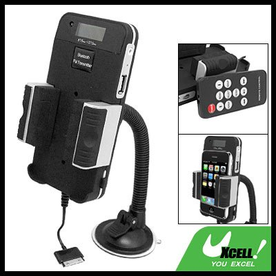 bluetooth FM Transmitter Car Charger Kit Holder with Remote for iPhone iPod