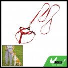 Red Pet Dog Nylon Pulling Harness and Leash Rope