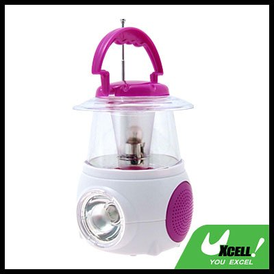 Mini Camping Lamp with Digital FM Radio - Purple