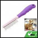 Dog Comb Pet  Grooming Shedding Hair Brushes Purple