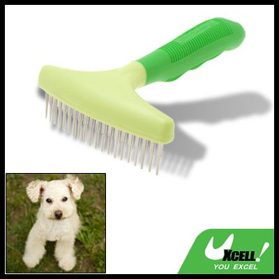 Green Brush Pet Dog Grooming Shedding Brush Rakes