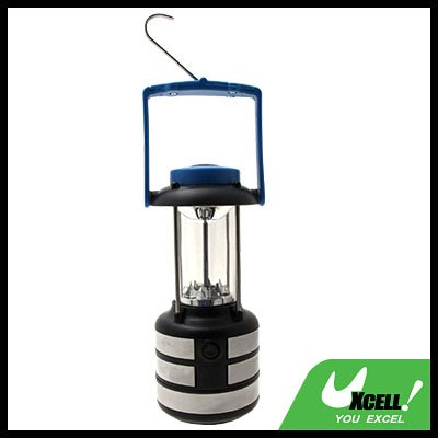 9 LED Camping Super Bright Compass Lantern Blue