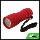9 LED Powerful Camping Flashlight Torch Red