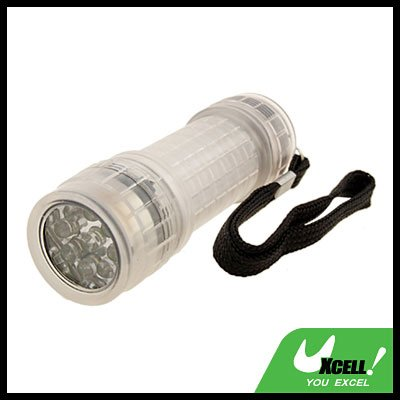 9 LED Transparent Powerful Camping Flashlight Torch