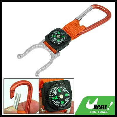 Camping Compass Cute Frog Design with Red Aluminium Carabiner