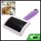 Pet Dog Cat Bristles Grooming Brush w/Purple Handle