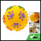 Vinyl Squeaker Yellow Ball Toy for Pet Cat & Dog