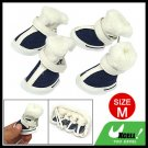 Plush Fabric Design Winter Protective Pet Dog Boot Shoes