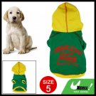 free shipping: Cotton Pet Dog Winter Clothes Green & Yellow