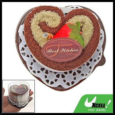 Soft Cotton Shower Sweet Heart Towel Washcloth Cake Gift