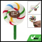 Colorful Strap Pattern White Washcloth Hand Towel Shaped Swirl Lollipop