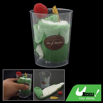 Gift Ice Cream White Green Handmake Towel Shaped Plastic Bottle