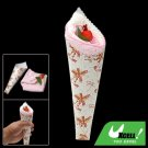 New White Pink Washing Hand Towels Shaped Ice Cream With Fruit
