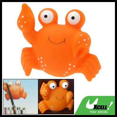 Orange Cartoon Frog Suction Cup Bathroom Towel Hanger Hook