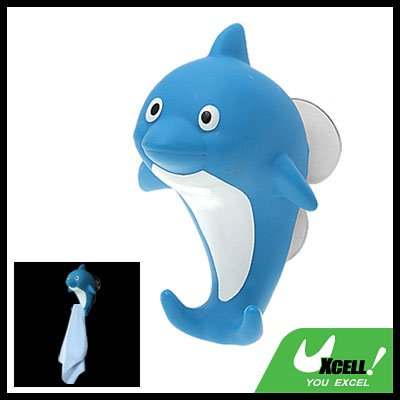 Lovely Cartoon Dolphin Suction Cup Towel Hanger Hook