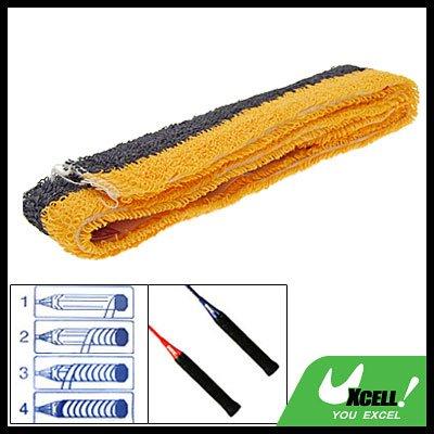 Orange Black Badminton Racquet Towel Towelling Grip