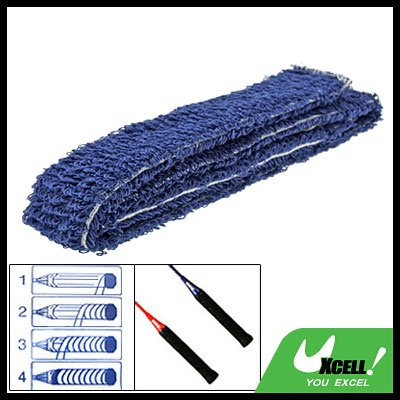 Blue Tennis Badminton Racquet Towel Towelling Grip