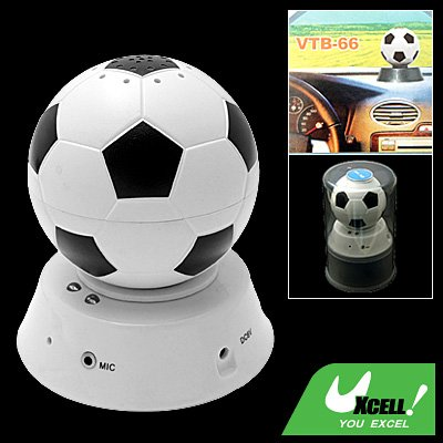 Football Design Car bluetooth Handsfree Speaker Kit with Microphone