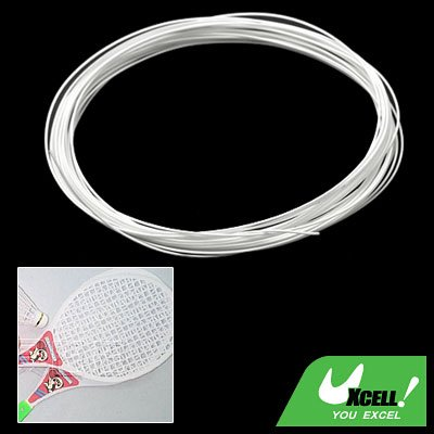 White Stamina Slim Fibre Nylon Badminton Racket String