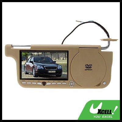 Super 7 inch Widescreen Auto Car Sun Visor DVD Player AV Input / Output - right side @