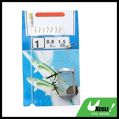 Fishing Floater with Hooks(0.7cm) String Wire-No.1