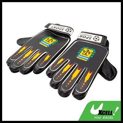 Football Soccer Ball GoalKeeper Gloves Adult Size - Black@