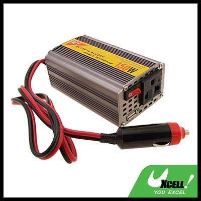 Car Vehicle 150W DC 12V to AC 220V Power Inverter Charger Adapter