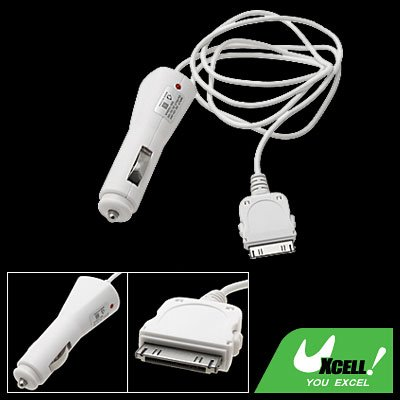 Car Charger Adapter White for Apple iPod 3G iPhone 1st Generation