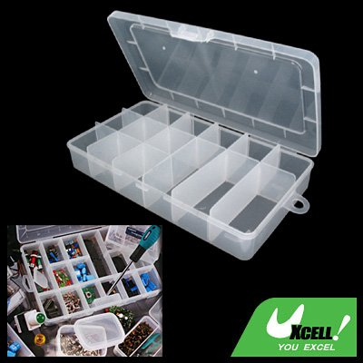Plastic 5-15 Adjustable Compartments Fishing Tackle Lure Bait Box