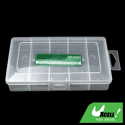 Transparent 5 Compartments Plastic Fishing Lure Bait Tackle Box