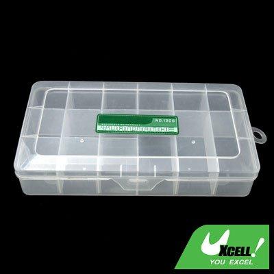 Transparent 15 Compartments Plastic Fishing Tackle Lure Bait Box
