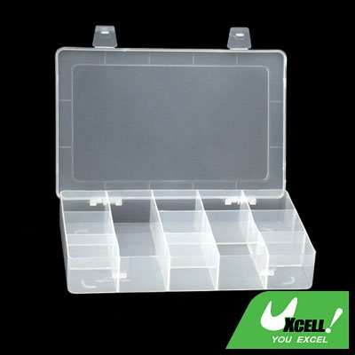 Transparent Plastic 12 Compartments Fishing Tackle Lure Bait Box