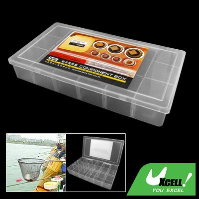 18 Compartments Plastic Fishing Tackle Lure Bait Component Box