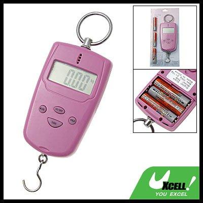 Pink Hand Held Pocket Digital Fishing Scale 10kg 22lbs