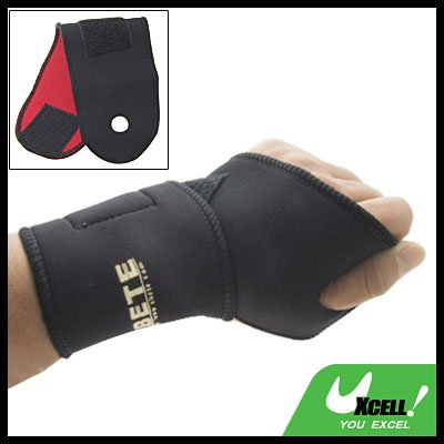 Sports Neoprene Velcro Fasten Adjustable Wrist Support Protector