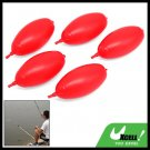 Ellipse Plastic Fish Fishing Bobbers Floats 5 pcs