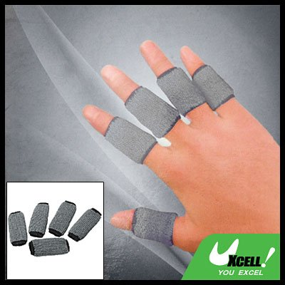 Sports Finger Sleeve Support Protection Protector Gray