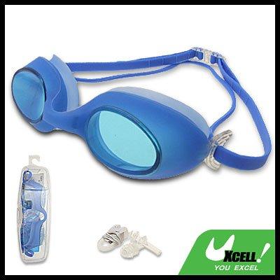 Fashion Blue Kids Swimming Pool Swim Goggles Anti Fog
