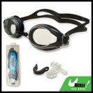 F508 Black Swim Swimming Goggles