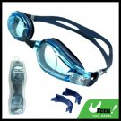 Adult Blue Swim Swimming Pool Silicone Goggles