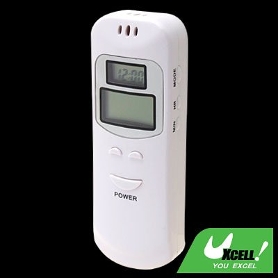 Dual LCD Screen Digital Breath Alcohol Analyser Tester with Alarm Clock