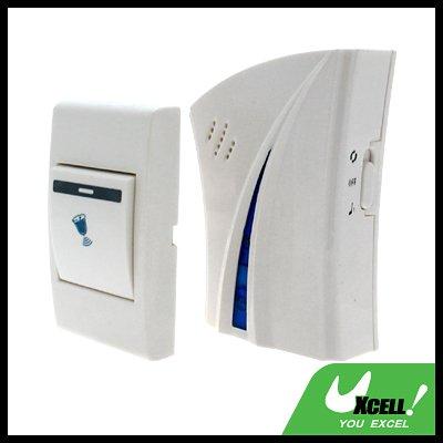 Wireless Flash Light DC Remote Control Doorbell - White