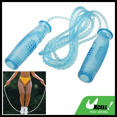 Crystal Blue Sports Exercise Training Plastic Jump Skipping Rope