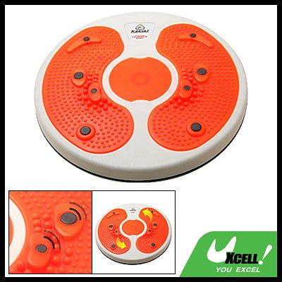 Orange Foot Massage Magnetic Figure Twister Trimmer Waist Exercise